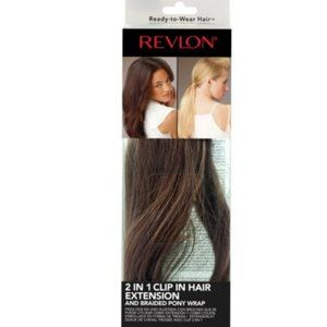 Revlon 2-In-1 Hair Braided Extensions Wrap Brown
